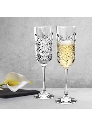 Paşabahçe 440356 Timeless Ayaklı Flüt Kadeh - 4 Lü Şampanya Kadehi Özel Seri Renkli